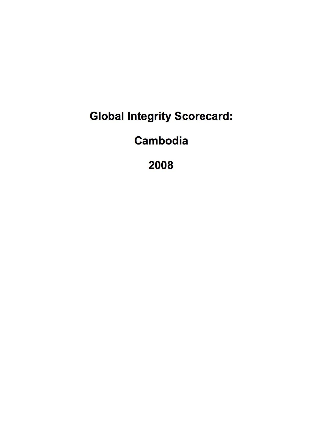 Politics and government archives page 16 of 17 ti cambodia global integrity scorecard cambodia 2008 malvernweather Gallery